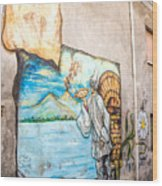 Mural Painting In Saludecio Wood Print