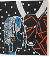Nuer Bride - South Sudan Wood Print