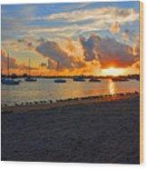 22- Sunset At Seagull Beach Wood Print