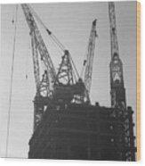 World Trade Center Under Construction 1967 Wood Print