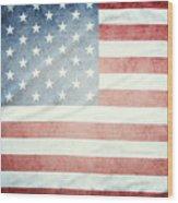American Flag 37 Wood Print