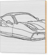 2208 Ferrari Enzo  Wood Print
