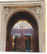 221 Columbus Ave. Boston Wood Print