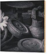 221 Wood Print