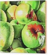 #227 Green Apples Wood Print