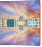 22nd Century Floating Cities Sunrise 01 Wood Print