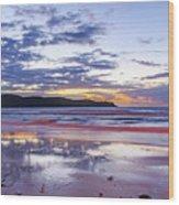 Daybreak Seascape Wood Print