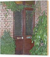 French Doors Wood Print