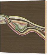 Line Faces Wood Print