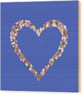 Love Heart Valentine Shape Wood Print