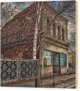 232 Simpson St. Texture Wood Print