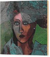 239 - Young Woman In Green Dress 2017 Wood Print