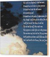 23rd Psalm Wood Print