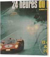 24 Hours Of Le Mans - 1971 Wood Print