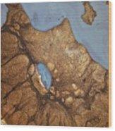 24 Karat Eruption Wood Print