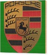 Porsche Label Wood Print