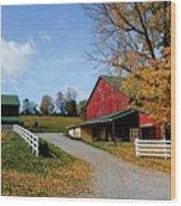 248 New Bedford Hillside Wood Print