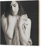 Claudia Nude Fine Art Print In Sensual Sexy Black And White Or S Wood Print
