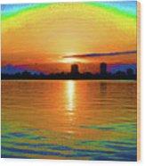 25- Psychedelic Sunrise Wood Print