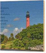 255- Becca Lee - Jupiter Lighthouse Wood Print