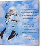 256- David Bowie Wood Print