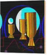 2664 Golden Goblets Patterns 2018 Wood Print