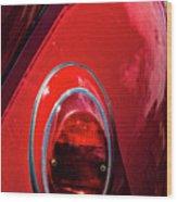 2665- Red Volkswagen  Wood Print