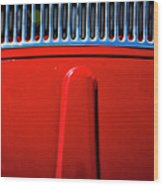 2674- Red Volkswagen  Wood Print