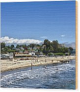 268 - Capitola Village 1hdr Wood Print