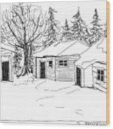 26th Street Fairbanks 1975 Ally Wood Print