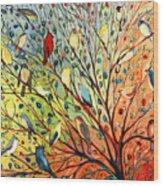 27 Birds Wood Print
