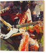 Jimmy Page. Led Zeppelin. Wood Print