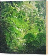 Jungle Leaves Wood Print