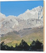 The Plateau Scenery Wood Print