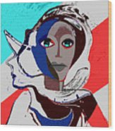 270 - Flashy Woman - Poster 2   Wood Print
