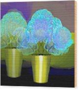 2701 Blue Flowers 2018 V Wood Print