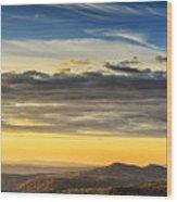 Allegheny Mountain Sunrise Wood Print