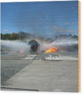 Firefighting Wood Print