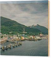 Scenery Around Alaskan Town Of Ketchikan Wood Print