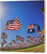 Pepperdine Flag Salute Wood Print