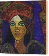 299 - Woman With Red Hat   Wood Print
