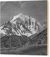 2d07508-bw High Peak In Lost River Range Wood Print