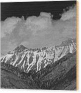 2d07509-bw High Peaks In Lost River Range Wood Print