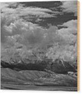2d07517-bw Storm Over Lost River Range Wood Print