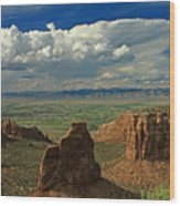 2d10338 Thunderhead Over Independence Monument Wood Print