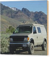 2da5944-dc Our Sportsmobile At Steens Mountain Wood Print