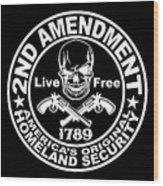 2nd Amendment Wood Print