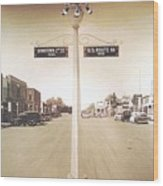 2nd St. 1930 And Route 66 1950 Wood Print