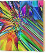 2x1 Abstract 308 Wood Print