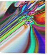 2x1 Abstract 317 Wood Print